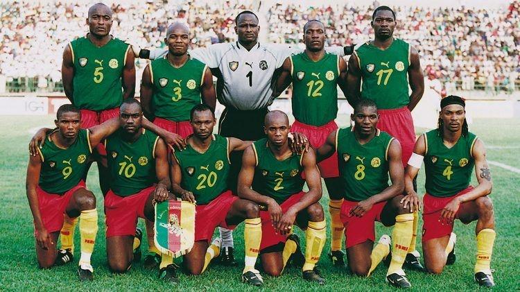 Kameroen Afrika cup 2002 elftalfoto