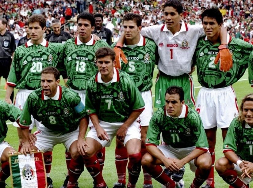 Mexico WK 1998 elftalfoto