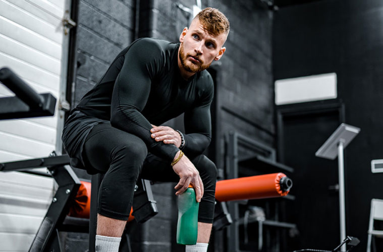 man in sportschool